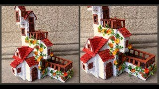 Домик из картона своими руками / How to make cardboard house / Casa din carton