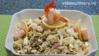 Салат с креветками -  Рецепт Бабушки Эммы