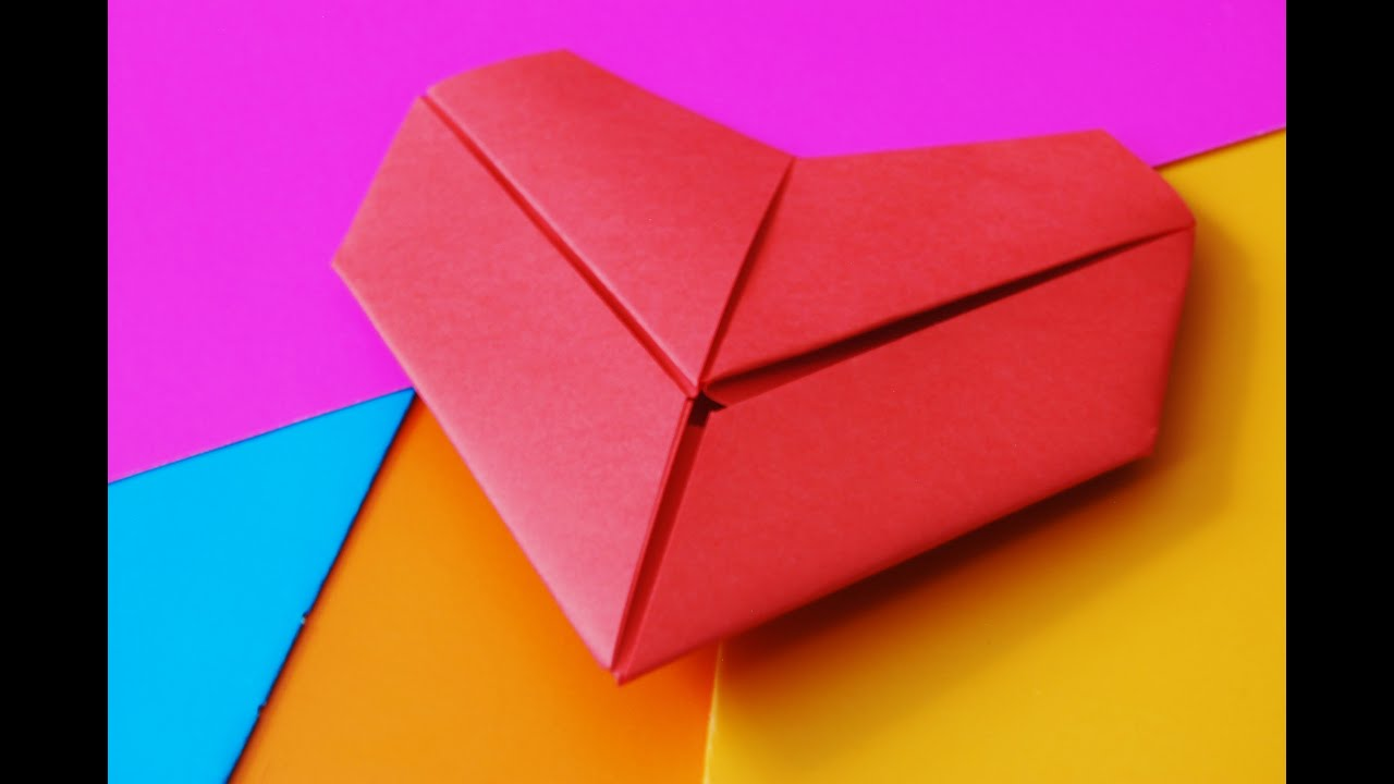 how to make a heart out of paper origami