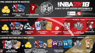 NBA 2k18 Shaq Legend Edition Gold! How to Play 2k18 Early with Free 250K VC + More!