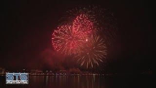 Feu d'artifice du 31 décembre et Nouvel An 2014 Genève Pyrostars