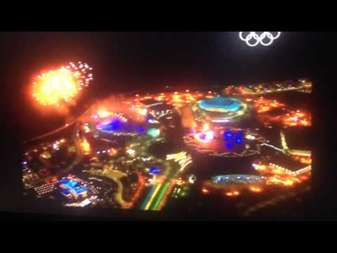 Winter Olympic Games 2014 Opening Firework in Sochi City