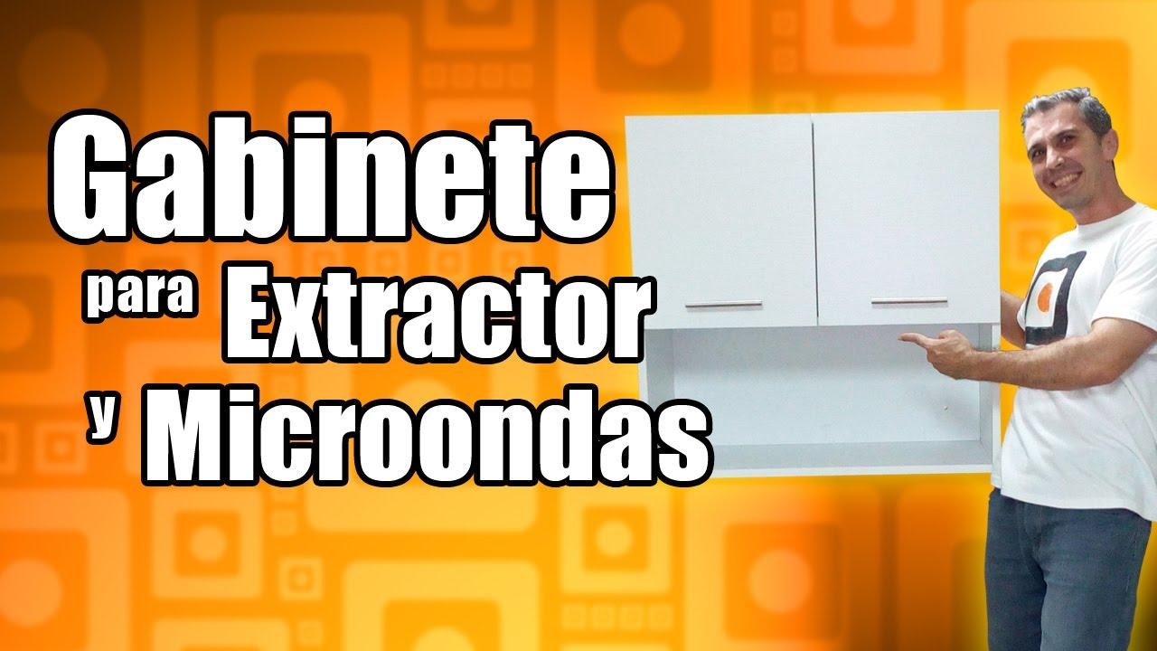 Mueble de melamina para cocina gabinete para extractor y - Mueble de pared para microondas ...
