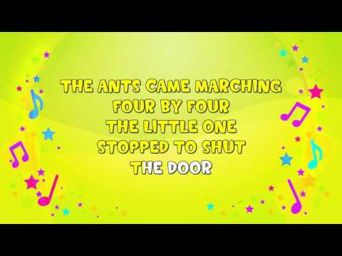 The Ants Came Marching | Karaoke | Action Song | Counting Song | Nursery Rhyme | KiddieOK
