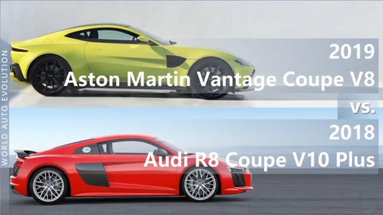 14 Aston Martin Vantage Coupe V14 vs 20114 Audi R14 Coupe V14 Plus  (technical comparison)   aston martin vantage v10