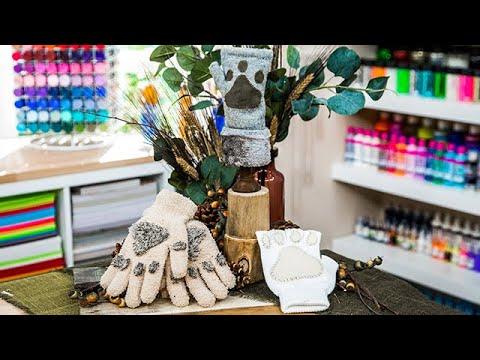 DIY Knit Paw Gloves