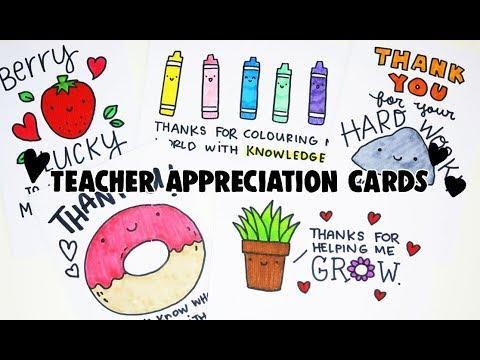 8 Teacher's Day (PUNS) Cards | Doodles by Sarah
