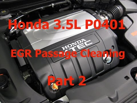 Honda P0401 Cleaning EGR Passages Part 2