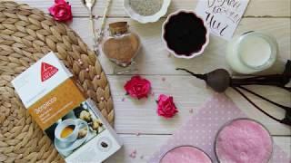 Натуральный розовый латте со свеклой