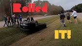 BURNOUT FAIL & CRASH MUSTANG ROLLS OVER!!  Leaving 10/6/19 Knightdale Cars and Coffee.
