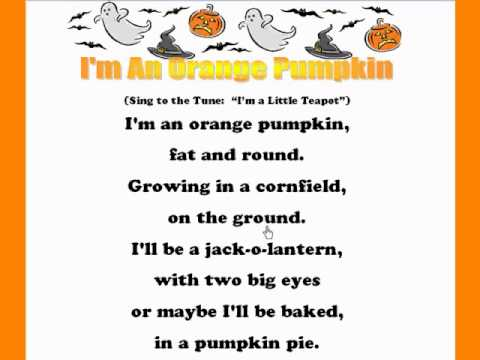I'm An Orange Pumpkin /Kids Halloween Rhymes and Songs/Kids Read ...
