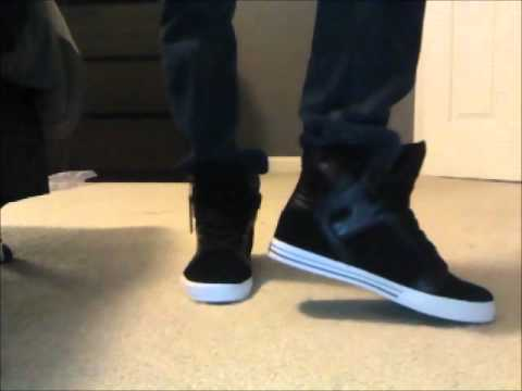 Supra Skytops Black Croc On Feet With Slim Jeans Youtube