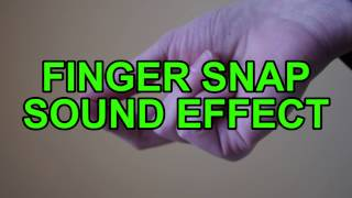 Finger Snap Sound Effect