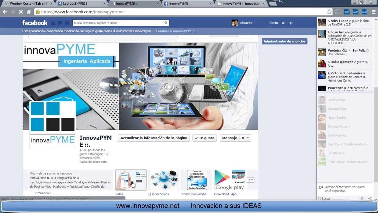 Poner una p gina web en un fan page de facebook tabs youtube for Paginas web para buscar piso