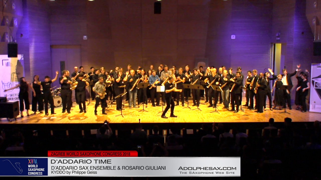 Kyddo by Philippe Geiss   D´Addario Saxophone Ensemble & Rosario Giuliani   XVIII World Sax Congress