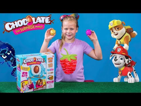 The Chocolate Surprise Egg Maker with Hidden Paw Patrol and