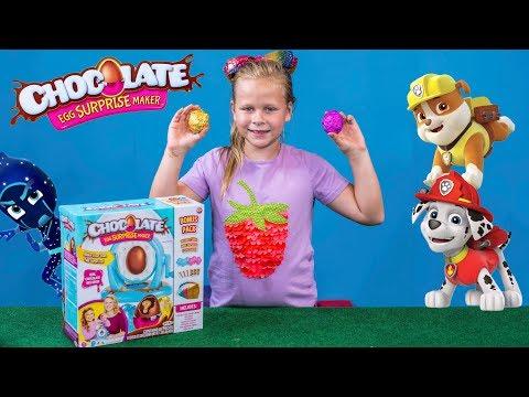 PAW PATROL and PJ MASKS Nickelodeon Chocolate Egg Surprise Maker