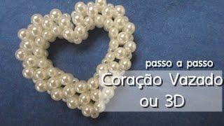 NM bijoux – Coração Vazado ou 3D – passo a passo