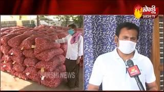 MLA Thopudurthi Prakash Reddy distributes vegetables to poor people | Sakshi TV