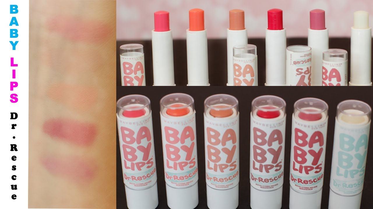 Maybelline Baby Lips Swatches