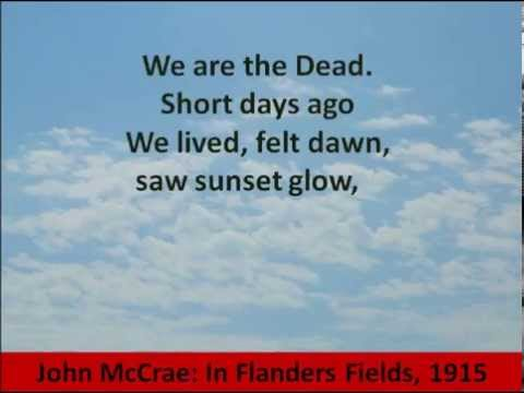 In Flanders Fields by John McCrae – Hear and Read the Poem