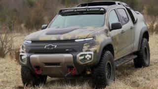 chevrolet colorado zh2 fuel cell electric vehicle extrior design trailer   automototv