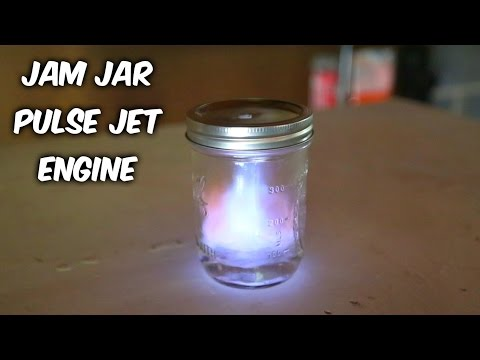 Jam Jar Pulse Jet Engine Test