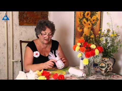 Ролик Как сделать вазу для цветов своими руками