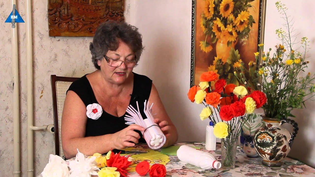 Как сделать своими руками цветы в вазе