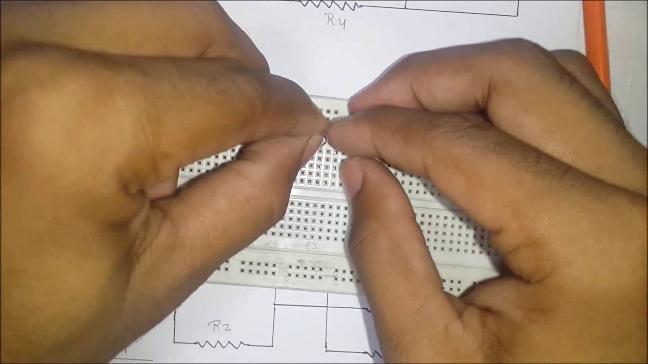 how to build series parallel circuit on breadboard in hindi rh youtube com Breadboard Wire Size Negative Logic Circuit Breadboard