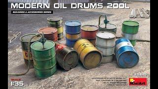 MMB 1//35th RESIN CAST OIL DRUM//BARREL 3 PER PACK NEW /& DENTED
