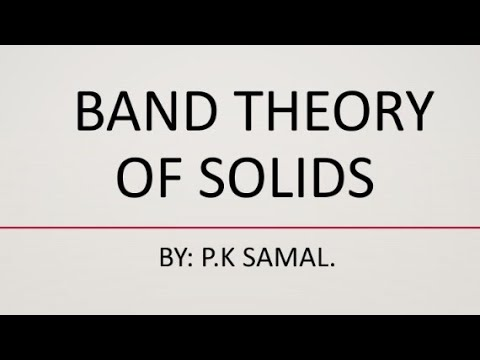 Band theory of solid.(Energy level diagram) - YouTube