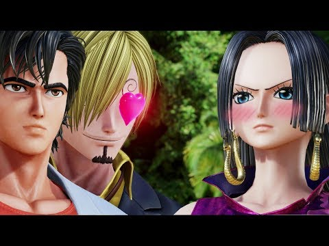 Jump Force : Sanji and Ryo with All Female Characters Interaction Dialogues