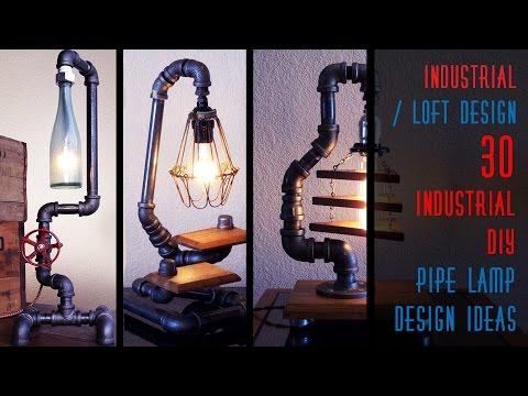 30 Industrial DIY Pipe Lamp Design Ideas