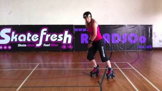 how to do a lunge stop tutorial on quad skates for roller derby and roller skating