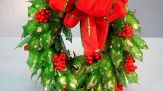 Recycled Soda Bottles Holly Wreath ~ Featuring Miriam Joy