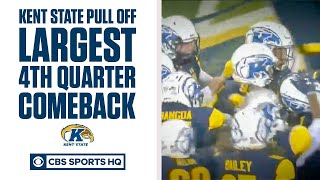 Kent State pulls off LARGEST FBS 4th Quarter comeback | CBS Sports
