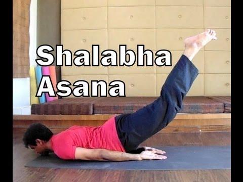 shalabhasana  locust pose  2 minutes yoga health for