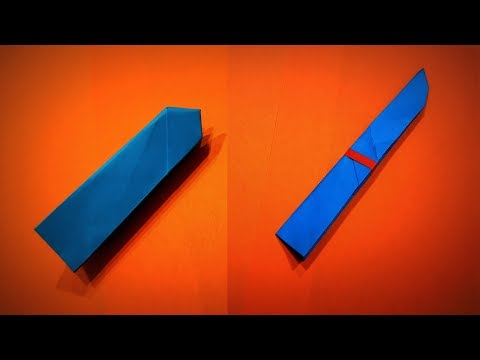 Origami Knife | How to Make a Paper opening Knife DIY | Easy Origami ART | Paper Crafts