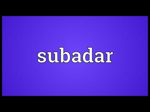 Header of subadar