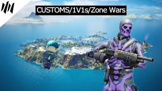 LIVE - 1V1s/ZONE WARS/CUSTOMS - #ICEUprising