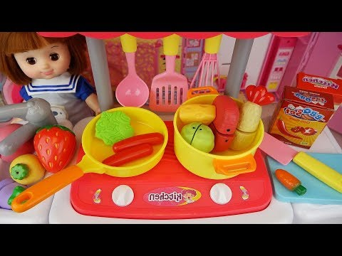 Baby doll kitchen food cooking and mart toys Baby Doli play