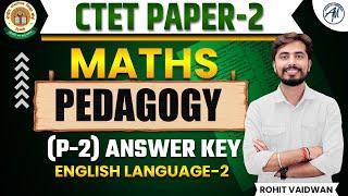 09 DEC 2018 CTET EXAM ANSWER KEY OF( PAPER -2 )MATHS PEDAGOGY     ROHIT SIR      ADHYAYAN MANTRA   