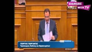 Ομιλία του Υφυπουργού Παιδείας Γ  Γεωργαντά στη Βουλή - eidisis.gr Web TV