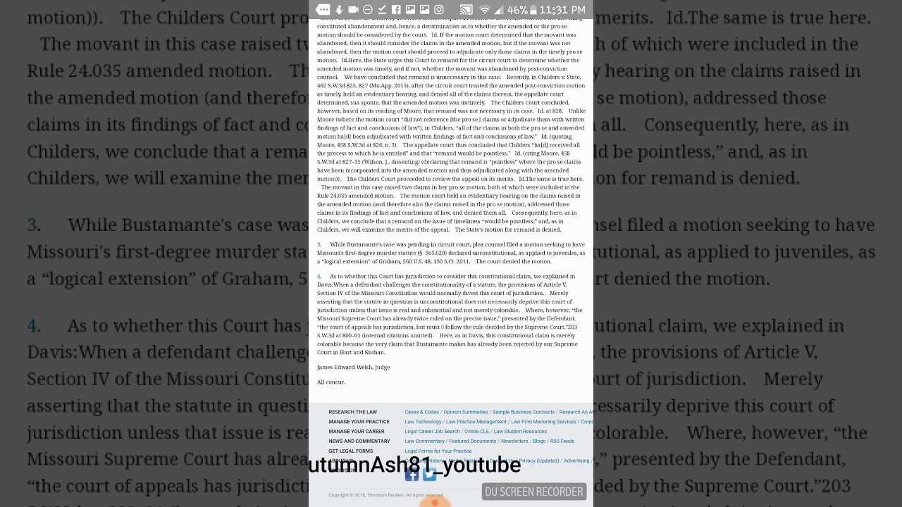 State Of Missouri Vs Alyssa Bustamante Court Documents And The - Missouri legal forms
