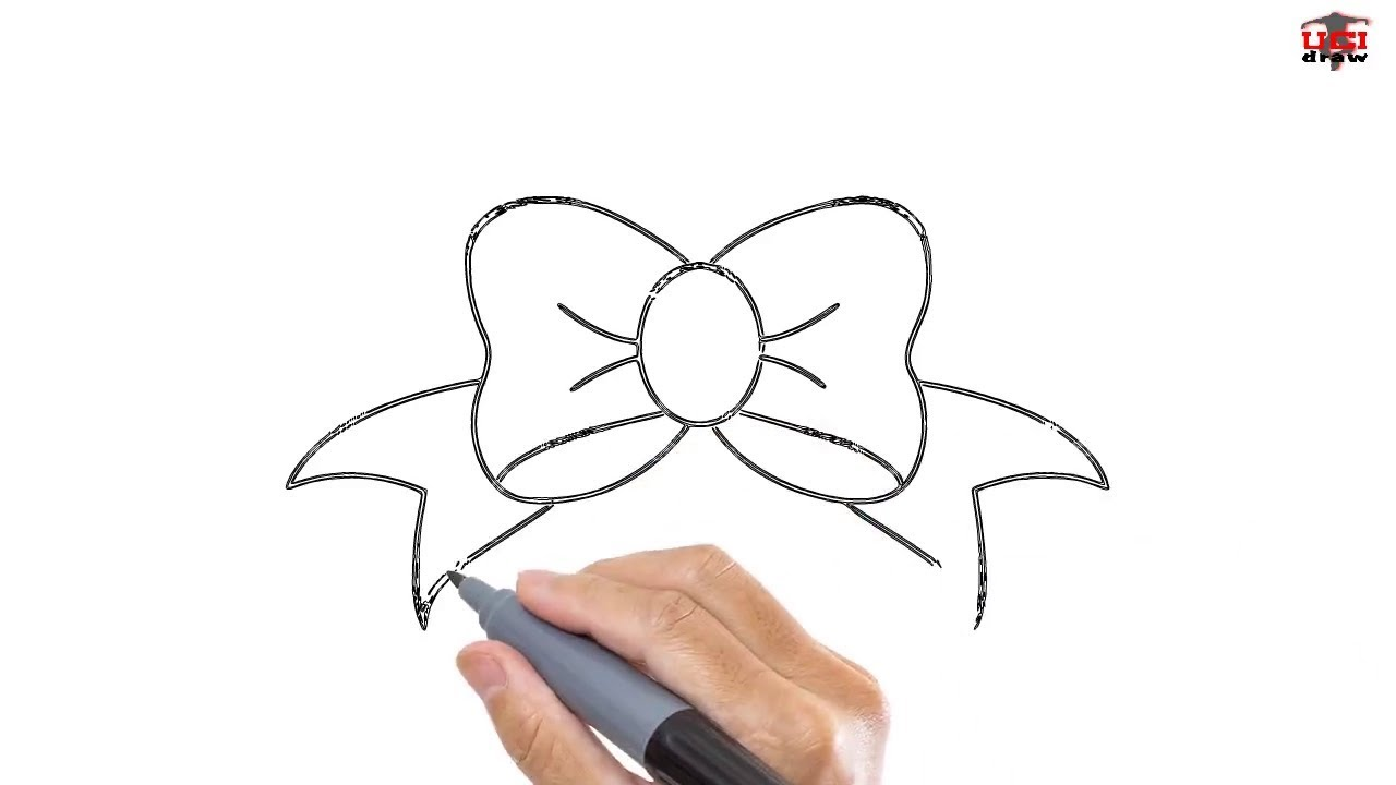 draw hair bow easy drawing