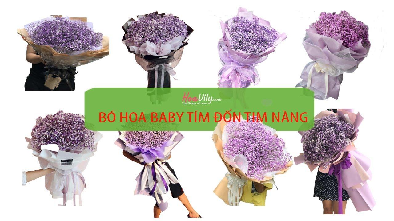 Hoavily.com - Bó hoa baby tím đốn tim bạn gái - 0936652727 ...