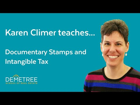 Florida Real Estate Exam Sample Question (2020) – Documentary Stamps And Intangible Tax
