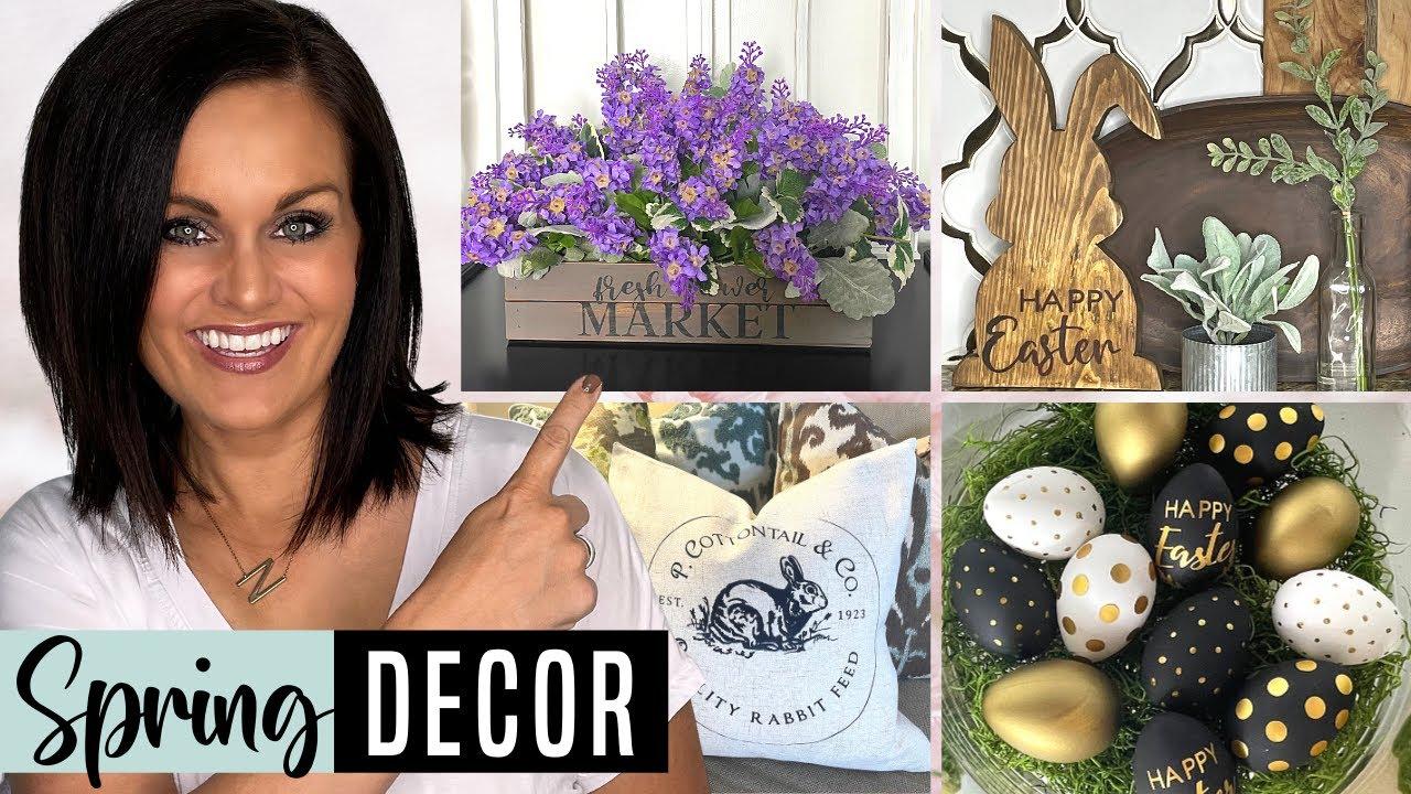⭐High End SPRING & EASTER DIY Home Decor Ideas on a Budget w/ Cricut!