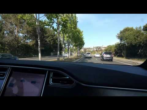 Model X Test-drive w/ Autopilot Engaged